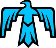Thunderbird - indiansymbol royaltyfri illustrationer