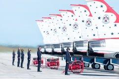 Thunderbirds έτοιμο να αναχωρήσει. στοκ φωτογραφία με δικαίωμα ελεύθερης χρήσης
