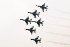 Thunderbirds (Πολεμική Αεροπορία των Η.Π.Α.) Στοκ Εικόνες