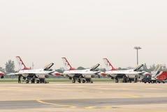 Thunderbirds (Πολεμική Αεροπορία των Η.Π.Α.) Στοκ Εικόνα