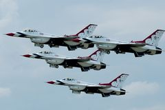 Thunderbirds Aerobatic Team Royalty Free Stock Photos