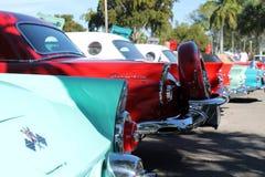 Thunderbirds clásicos en una fila perfecta Imagen de archivo