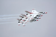 Thunderbirds in close formation Stock Image