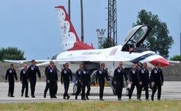 Thunderbirds da força aérea de Estados Unidos Foto de Stock Royalty Free