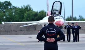 Thunderbirds de la fuerza aérea de Estados Unidos Imagenes de archivo