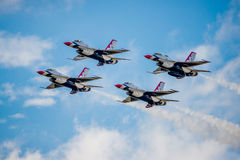 Thunderbirds del F-16 del USMC Fotografie Stock Libere da Diritti