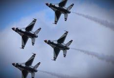Thunderbirds del U.S.A.F. foto de archivo libre de regalías