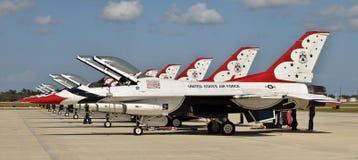 Thunderbirds dell'aeronautica di Stati Uniti Fotografie Stock Libere da Diritti