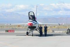 Thunderbirds dell'aeronautica di Stati Uniti Fotografie Stock