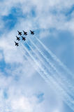Thunderbirds in delta formation Stock Photo