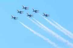 Thunderbirds in der Bildung Lizenzfreies Stockbild