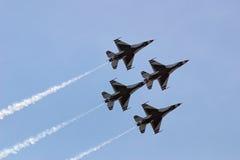 Thunderbirds en la formación de diamante Foto de archivo libre de regalías