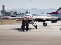 Thunderbirds för Förenta staternaflygvapen royaltyfri foto