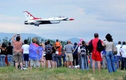 Thunderbirds för Förenta staternaflygvapen Royaltyfria Foton