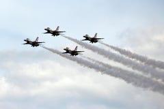 Thunderbirds för USA-flygvapen i bildande Fotografering för Bildbyråer