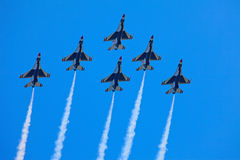 The Thunderbirds F-16 planes Royalty Free Stock Photos