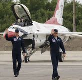 Thunderbirds flight crew Royalty Free Stock Photo