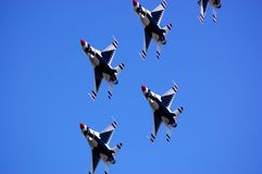 Thunderbirds in formation Stock Photos