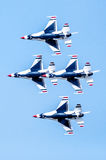 Thunderbirds in formation Royalty Free Stock Photos