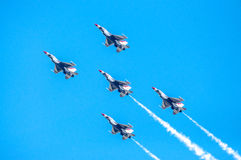 Thunderbirds in formation Royalty Free Stock Photo