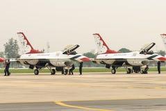 Thunderbirds (l'Armée de l'Air d'USA) Photographie stock