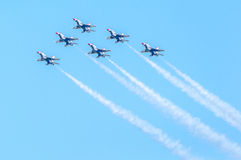 Thunderbirds na formação Imagem de Stock Royalty Free