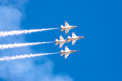 Thunderbirds nella formazione immagine stock