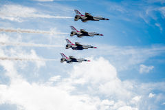 Thunderbirds Over the Clouds Royalty Free Stock Photos