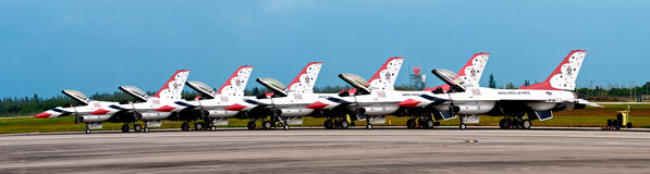 Thunderbirds Pano de l'U.S. Air Force Photo stock