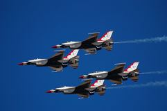 Thunderbirds Perform at McCord Air Show stock image