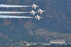Thunderbirds Show at the US Air Force Graduation Royalty Free Stock Photography