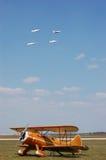 Thunderbirds sopra Waco fotografia stock libera da diritti