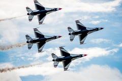 Thunderbirds sopraelevati Fotografie Stock Libere da Diritti