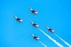 Thunderbirds in vorming Royalty-vrije Stock Foto