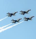 Thunderbirdy w formaci Fotografia Royalty Free