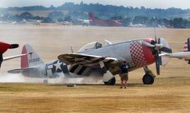 Thunderbolt республики P-47 была истребительной авиацией эры Второй Мировой Войны произведенной Соединенными Штатами стоковые фотографии rf