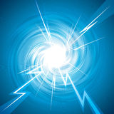 Thunderbolt. Abstract background of thunderbolt effect. Vector layered Royalty Free Stock Photo