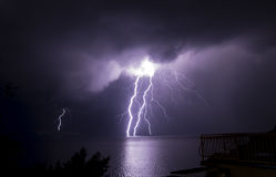 thunderbolt Arkivfoton