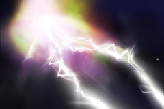 Thunderbolt attack Royalty Free Stock Image
