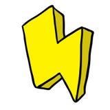 Thunderbolt. Cartoon isolated on white Stock Image