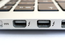 Thunderbolt connectors Stock Photo