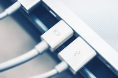 Thunderbolt Display Connection Stock Photography