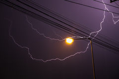 Thunderbolt down on me Royalty Free Stock Photography