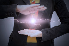 Thunderbolt in the hands Stock Image