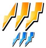 Thunderbolt, Lightening Icons Royalty Free Stock Photo