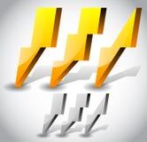 Thunderbolt, Lightening Icons Royalty Free Stock Image