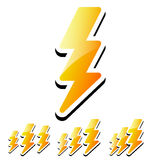 Thunderbolt, Lightening Icons Stock Photography