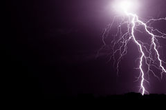 Thunderbolt. Lightning in the night Stock Photography