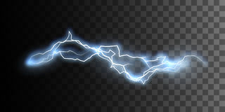 Thunderbolt or lightning visual effect for design Stock Image