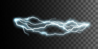 Thunderbolt or lightning visual effect for design Stock Photography